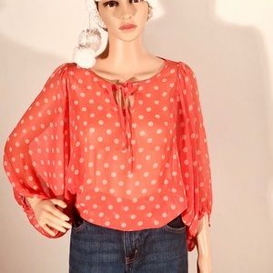 Anthro -Hi There  Karen Walker polkadot sheer top